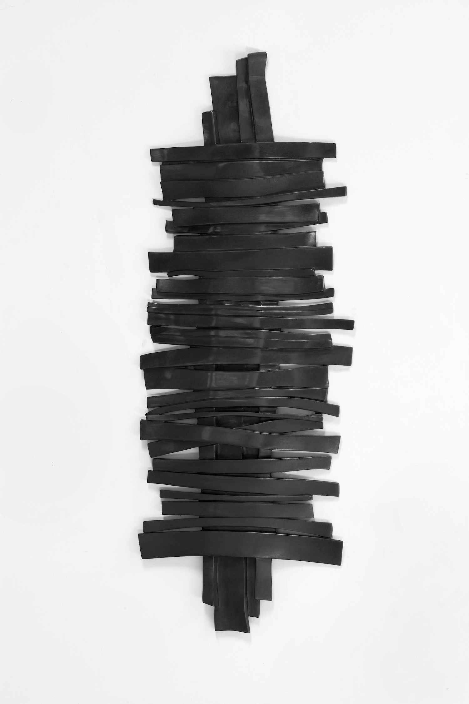 Anthony Pearson  Untitled (Tablet)  2012 Bronze relief with cobalt patina 38h x 14w x 1d in AP322