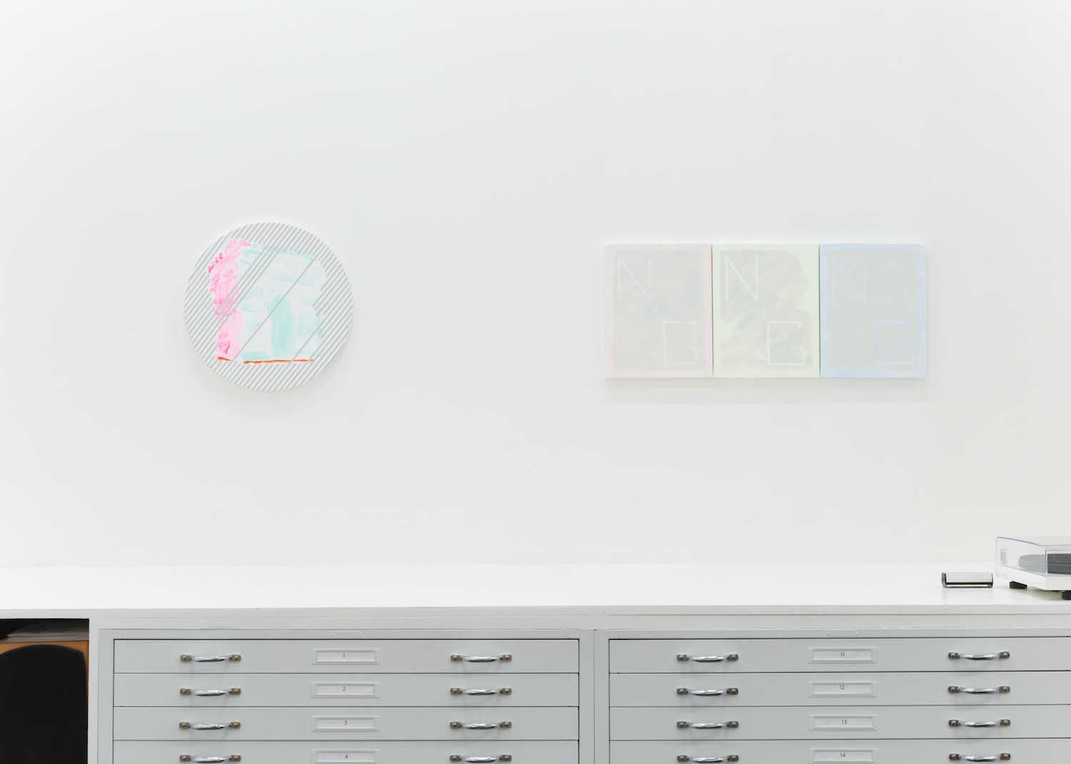 Shimon Minamikawa Blank Map, Snow 2014 Shane Campbell Gallery, Chicago Installation View