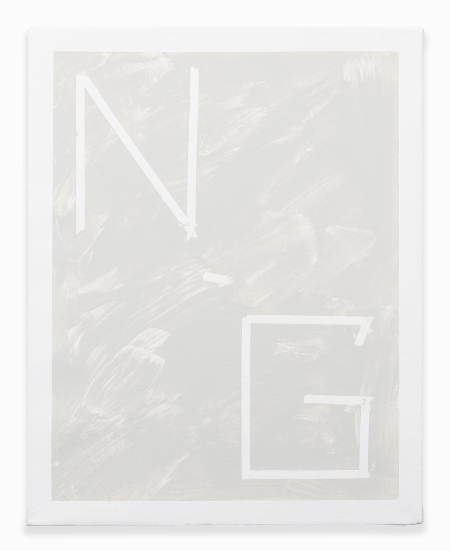 Shimon Minamikawa  Neutral Gray  2014 Acrylic on canvas 14h x 11w in SMin007