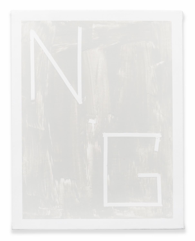 Shimon Minamikawa  Neutral Gray  2014 Acrylic on canvas 14h x 11w in  SMin008