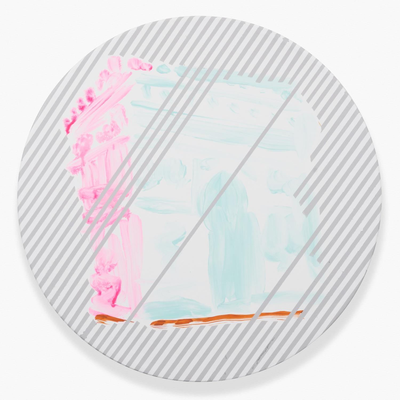 Shimon Minamikawa Arc de Triomphe 2014 Acrylic on canvas 19 ⅔h x 19 ⅔w in SMin015
