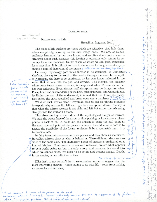 M. Malliaris  Looking Back  2013 Letterpress Print On Rag Paper MM001
