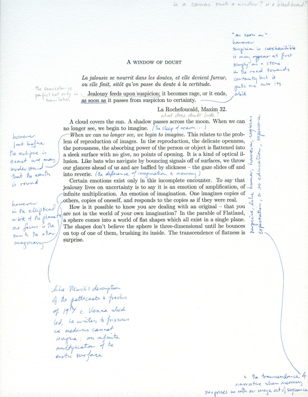 M. Malliaris  A Window Of Doubt  2013 Letterpress Print On Rag Paper MM004