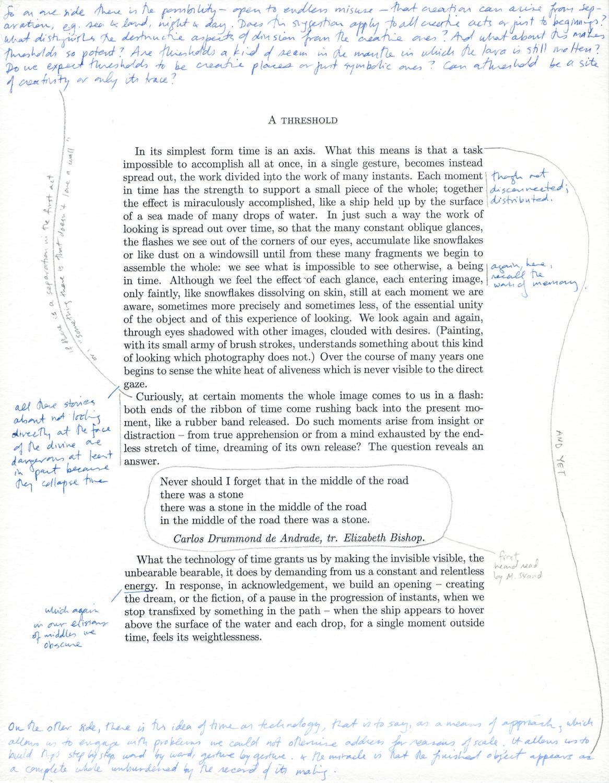 M. Malliaris  A Threshold  2013 Letterpress Print On Rag Paper MM006