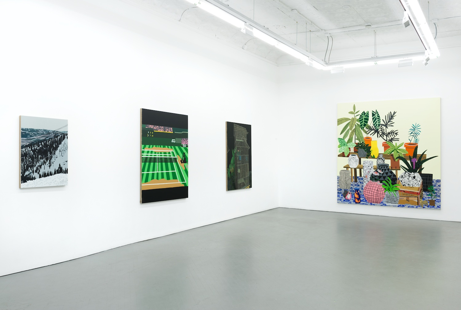 Jonas Wood 2013 Shane Campbell Gallery, Chicago Installation View