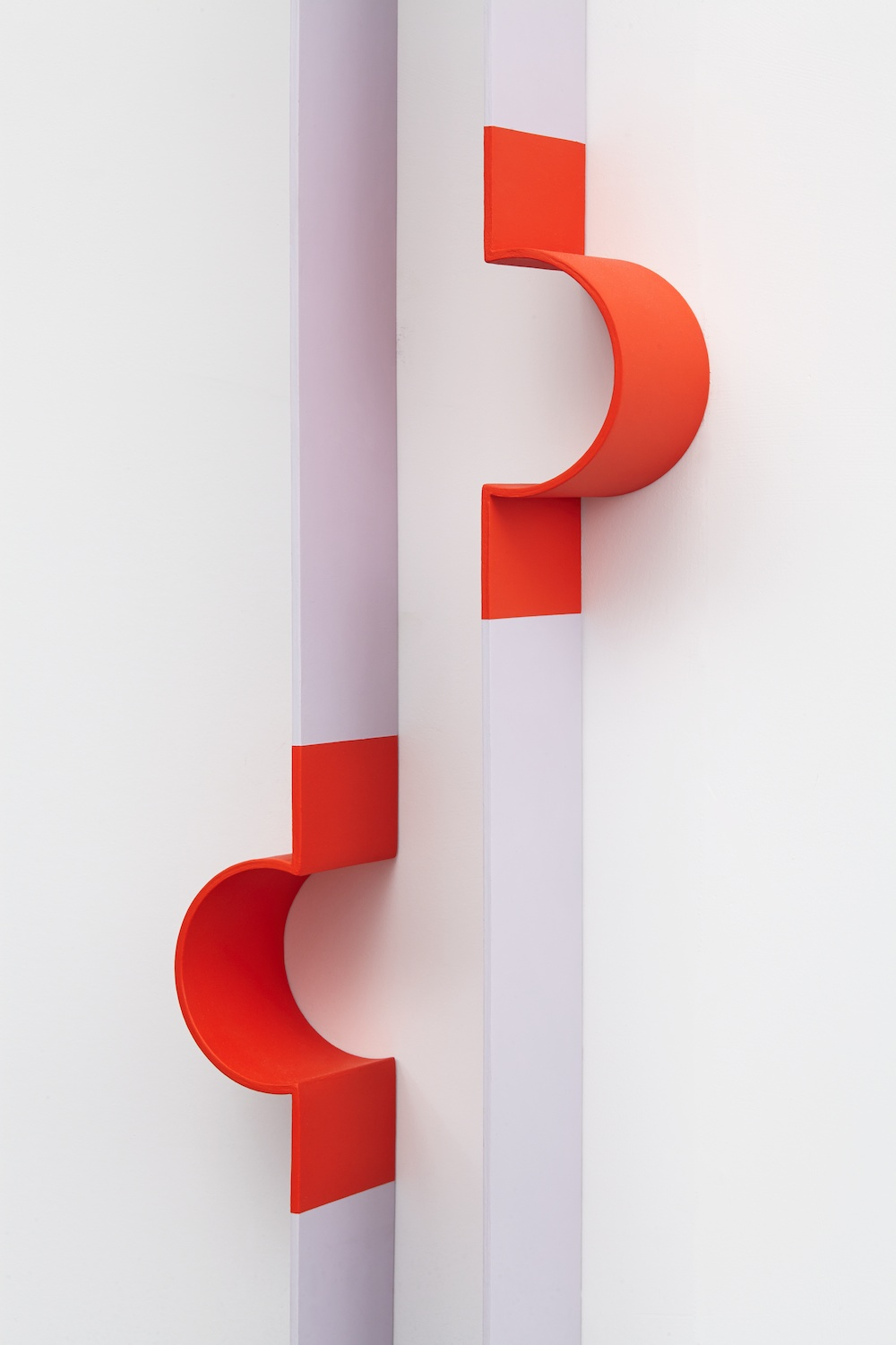 Lisa Williamson  Bump, Neoprene  (Detail) 2013 Acrylic on powder-coated steel 80h x 14w x 4d in LW121