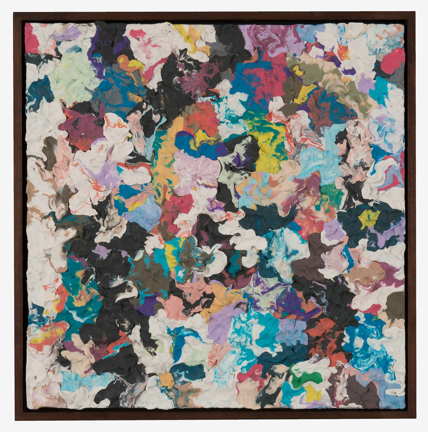 Dan Rees  Untitled  2013 Plasticine on panel in walnut frame 21 ½h x 21w x 2d in DR011
