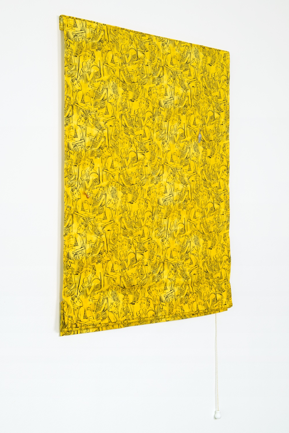 Paul Cowan  Untitled  2013 Fabric, lures, hardware 66h x 32w in  PC059