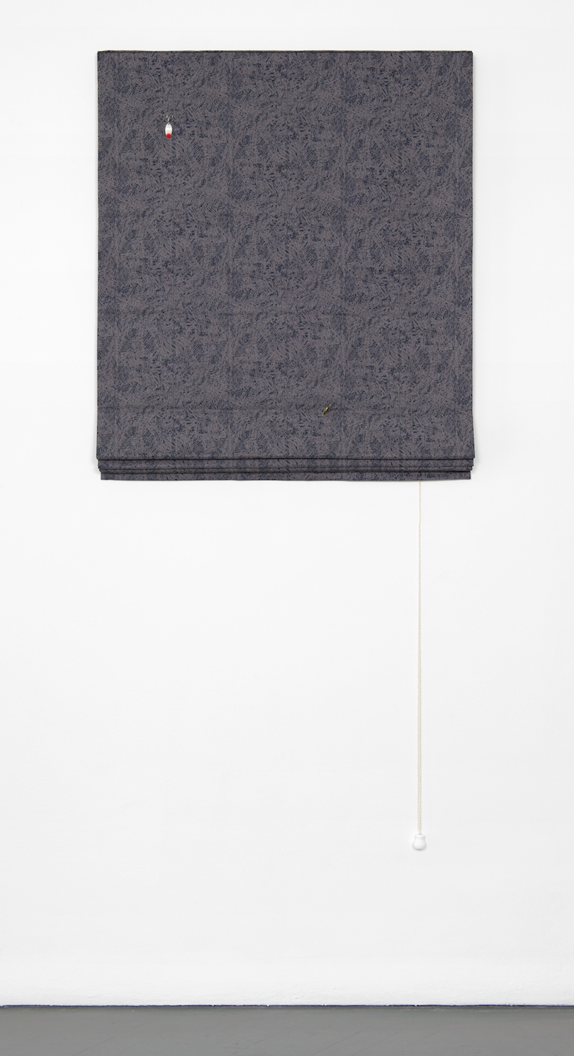 Paul Cowan  Untitled  2013 Fabric, lures, hardware 66h x 32w in  PC060