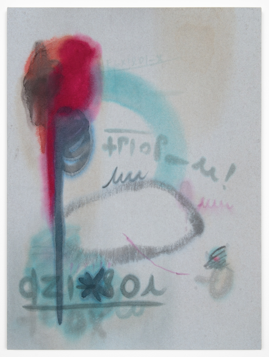 Amanda Ross-Ho  Untitled Painting (BLINK 182)  2013 Acrylic on dyed canvas 24h x 18w in ARH043