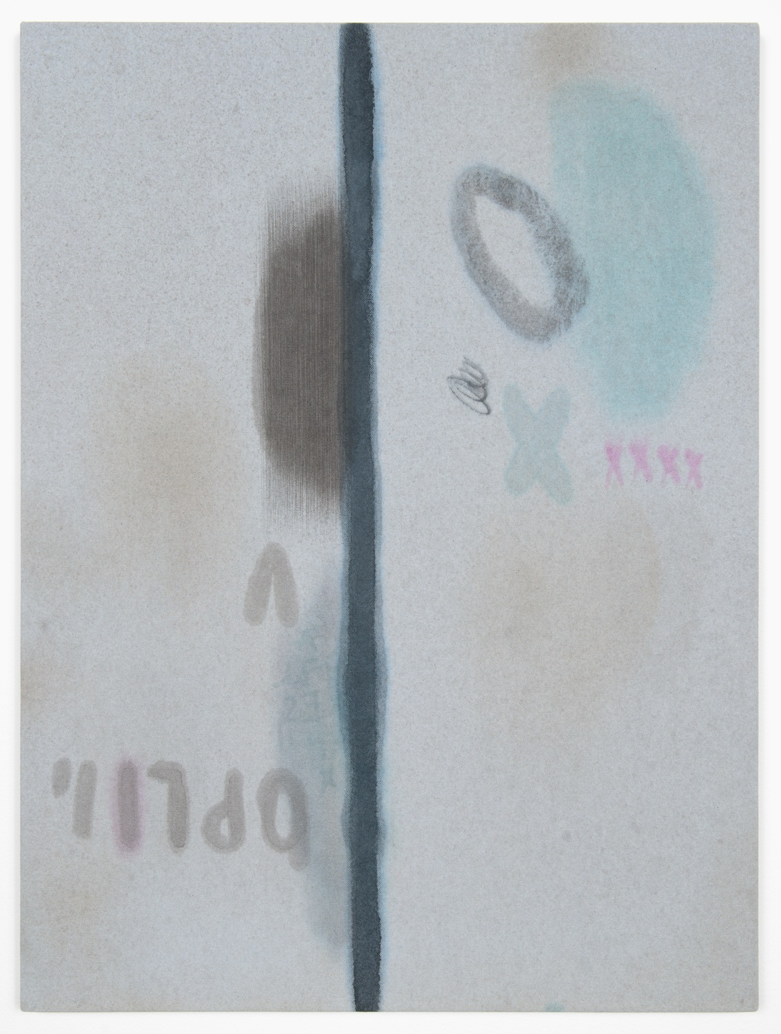 Amanda Ross-Ho  Untitled Painting (BLAH)  2013 Acrylic on dyed canvas 24h x 18w in ARH045