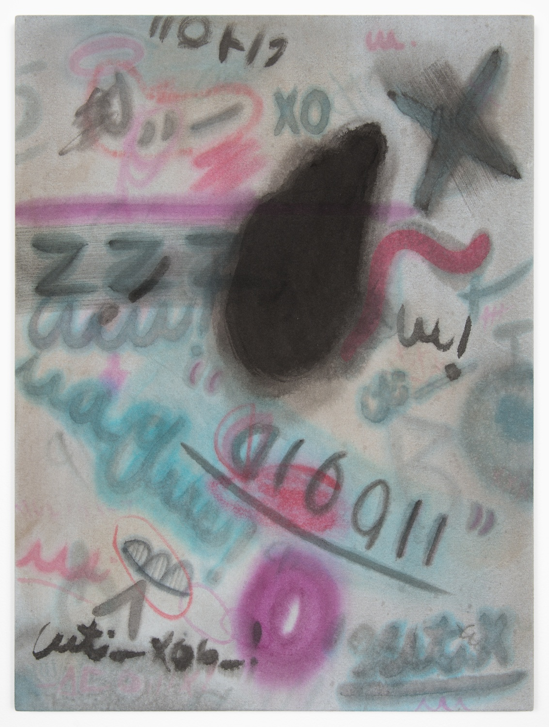 Amanda Ross-Ho  Untitled Painting (OZZY)  2013 Acrylic on dyed canvas 24h x 18w in ARH046