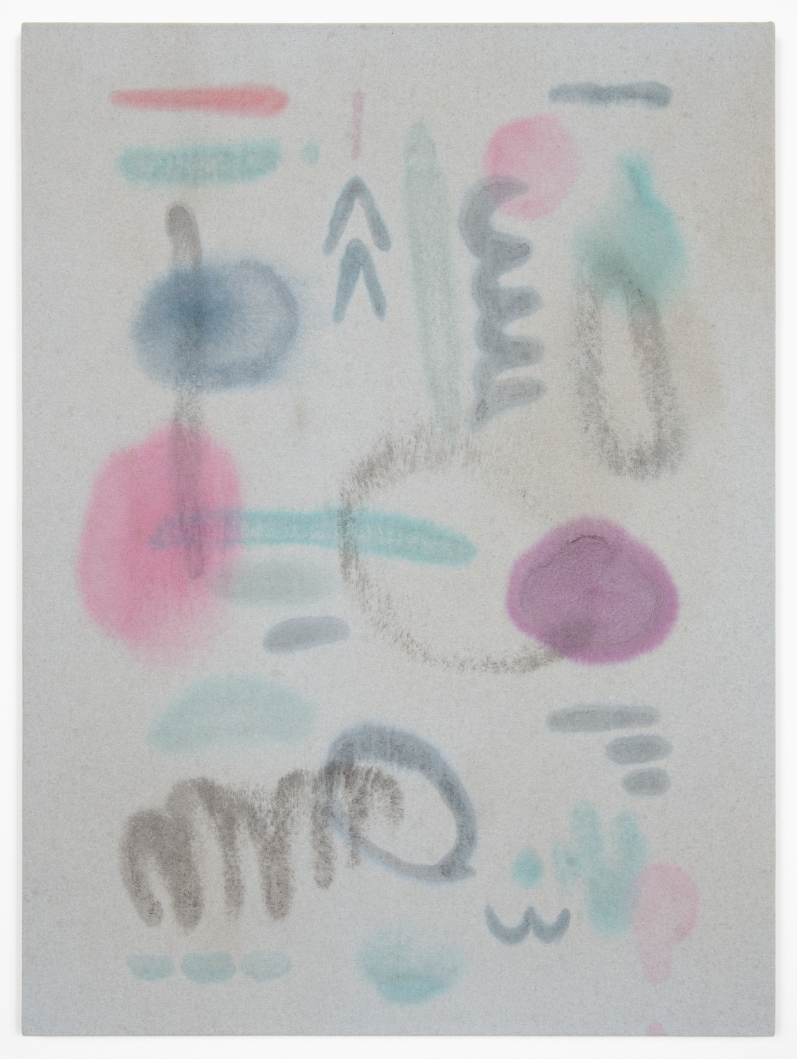 Amanda Ross-Ho  Untitled Painting (PARTY HARD)  2013 Acrylic on dyed canvas 24h x 18w in ARH050