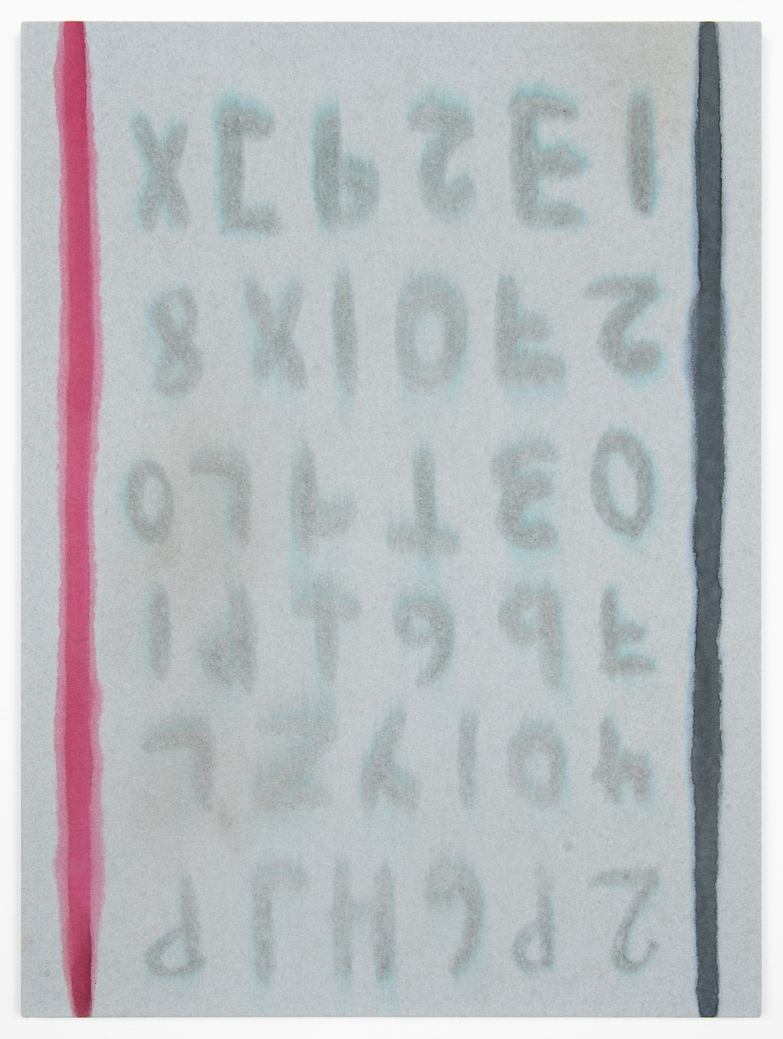 Amanda Ross-Ho  Untitled Painting (VOTE FOR VOTE)  2013 Acrylic on dyed canvas 24h x 18w in ARH053