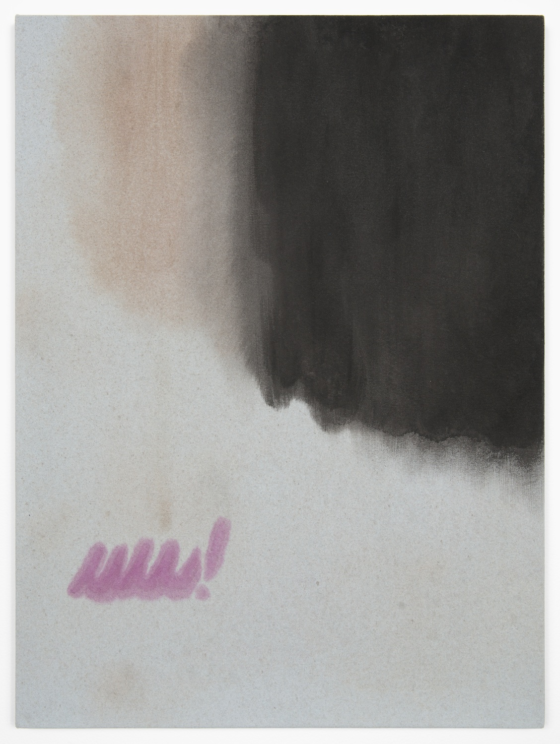 Amanda Ross-Ho  Untitled Painting (HALLOWEEN NIGHT!)  2013 Acrylic on dyed canvas 24h x 18w in ARH052