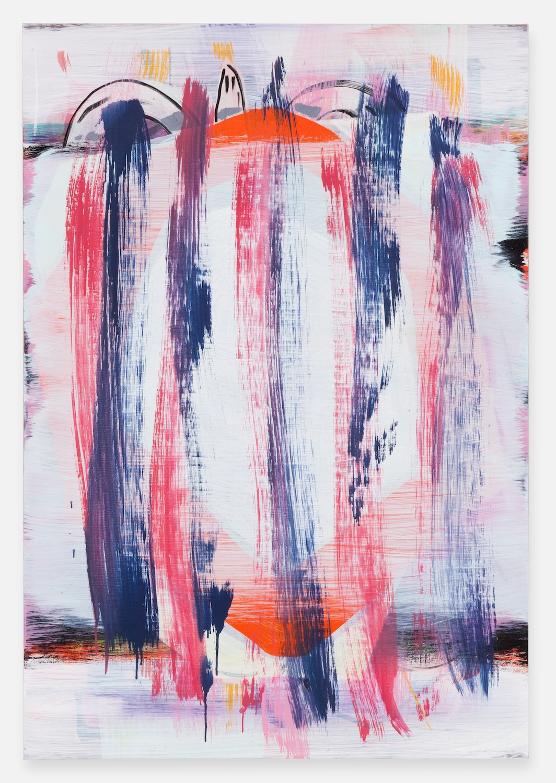 Jon Pestoni  Buried Target  2012 Oil on canvas 45h x 31w in JP129