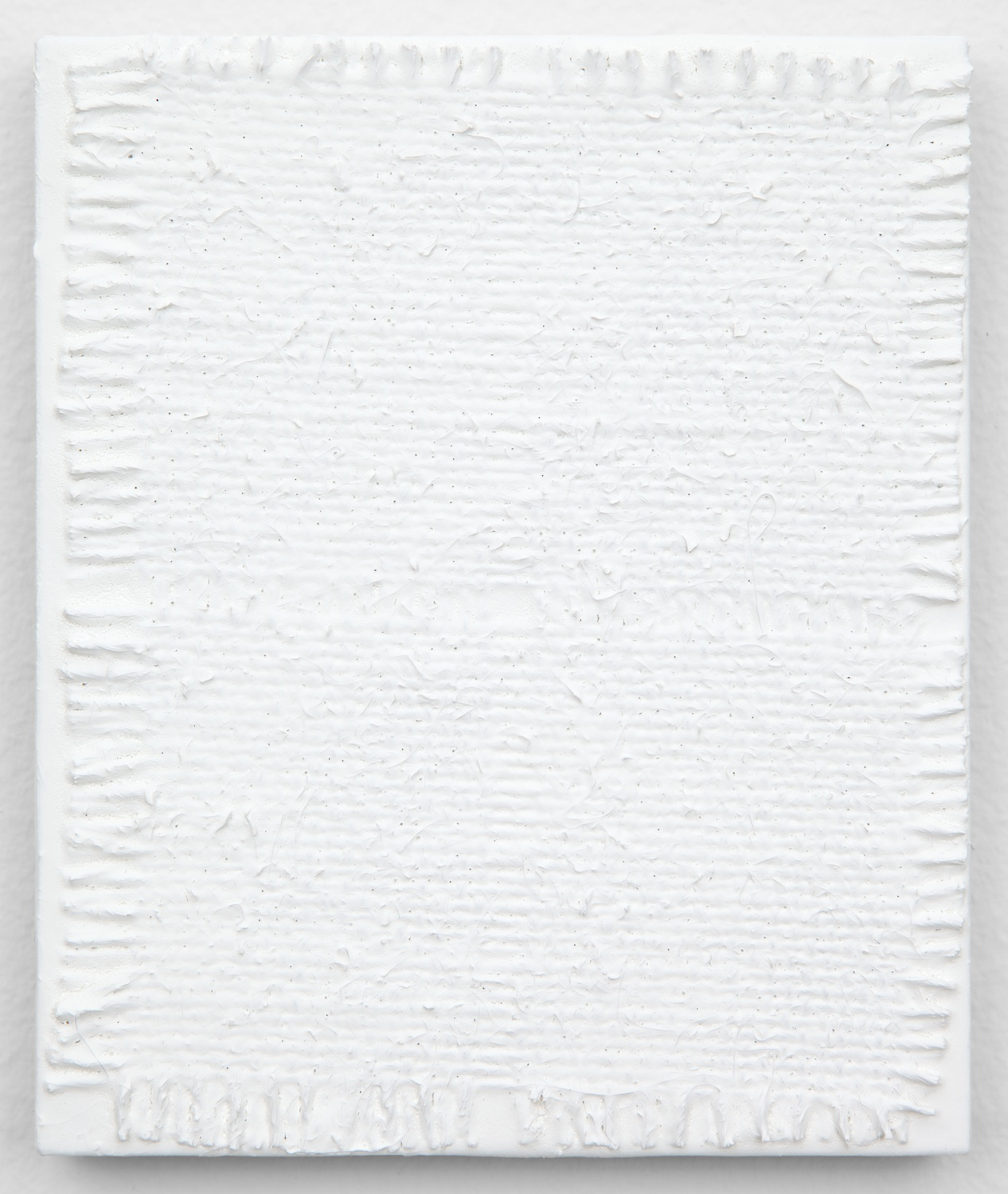 Michelle Grabner  Untitled  2013 Burlap and gesso on panel 6h x 5w in MGrab360