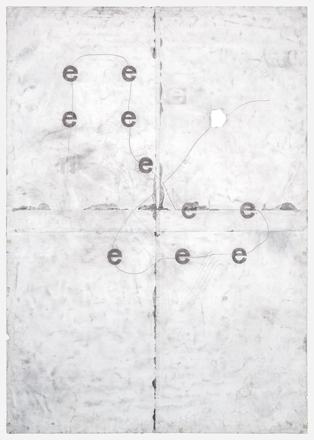 Tony Lewis  e e e e e e e e e e  2011 Pencil and powdered graphite on paper 84h x 60w in TL030