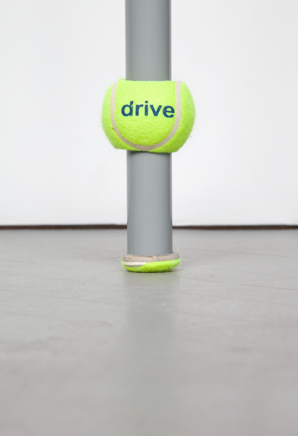 Chadwick Rantanen  Telescopic Pole (Drive Medical/Grey)  (Detail) 2012 Powdercoated aluminum, plastic, walkerballs 296h x 1 ½w in CR027