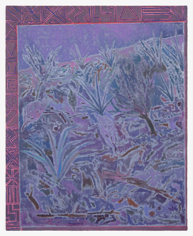 John McAllister  Soft Crackle Susurrus  2012 Oil on canvas 31h x 25w in JMC005