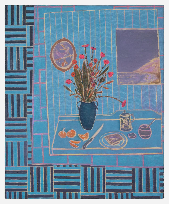 John McAllister  Showy Flowers Ocean Views  2012 Oil on canvas 21h x 17w in JMC006