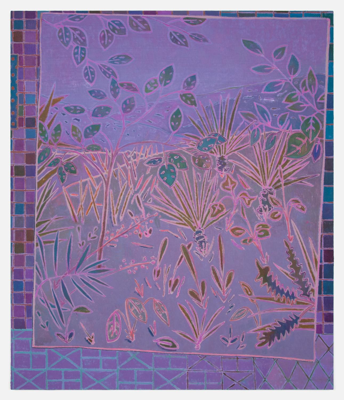 John McAllister  It Seemed Serener Thundering  2012 Oil on canvas 55h x 47w in JMC010