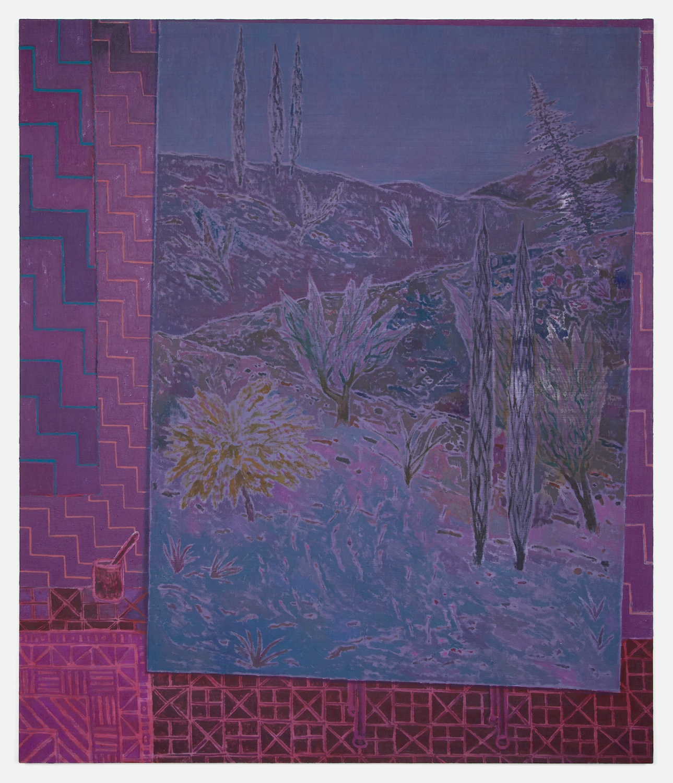 John McAllister  Moon Had Drifted Through  2012 Oil on canvas 55h x 47w in JMC009
