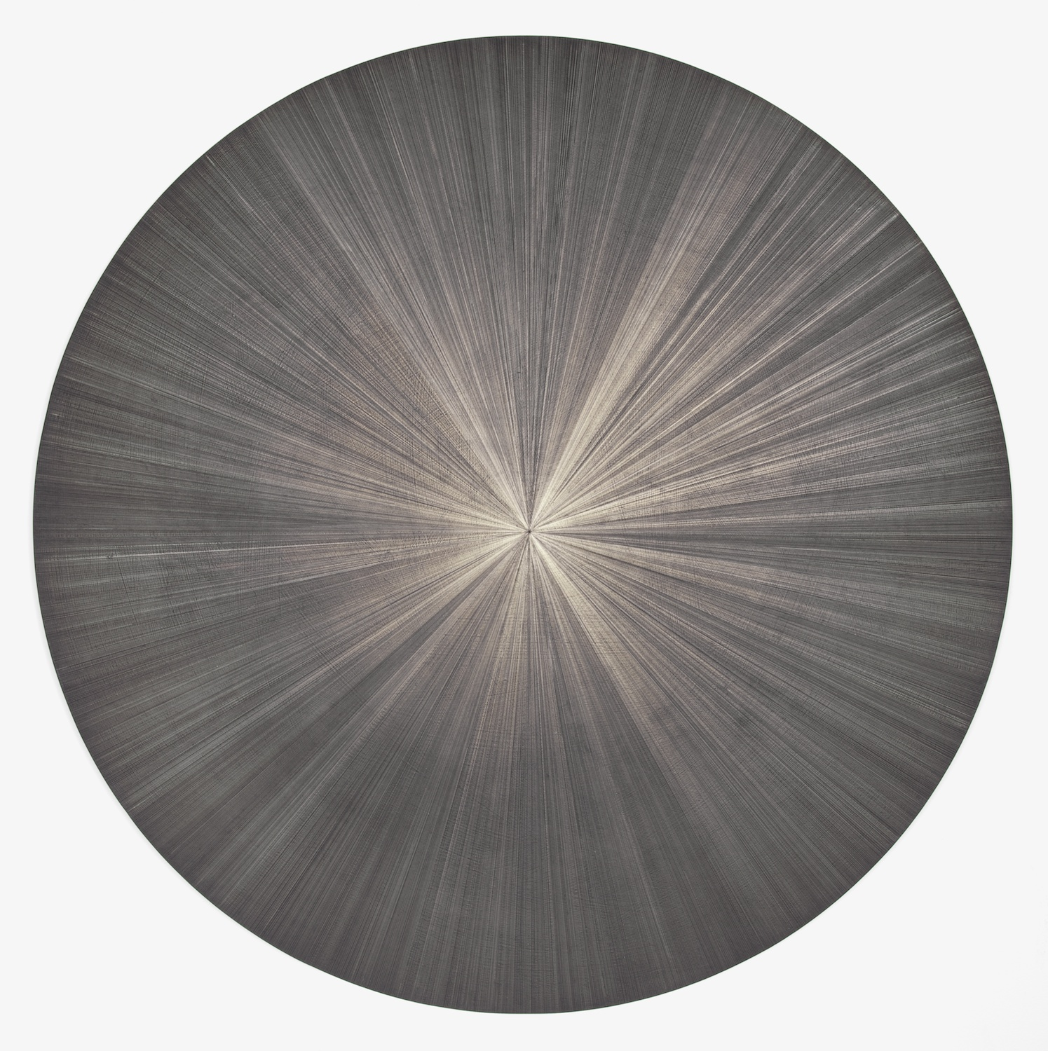 Michelle Grabner  Untitled  2012 Silverpoint and black gesso on canvas 36h x 36w in MGrab261
