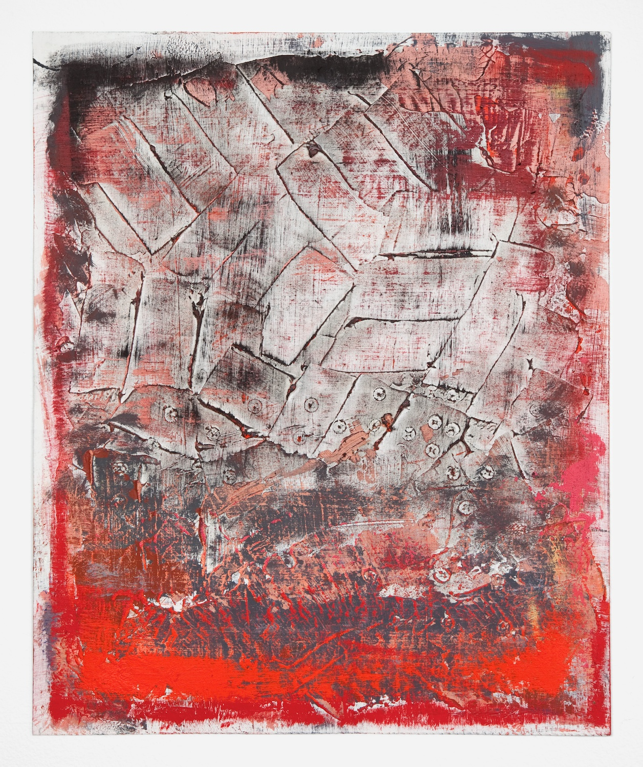 Alex Olson  Untitled  2012 Oil on gessoed paper 17h x 14w in AO082