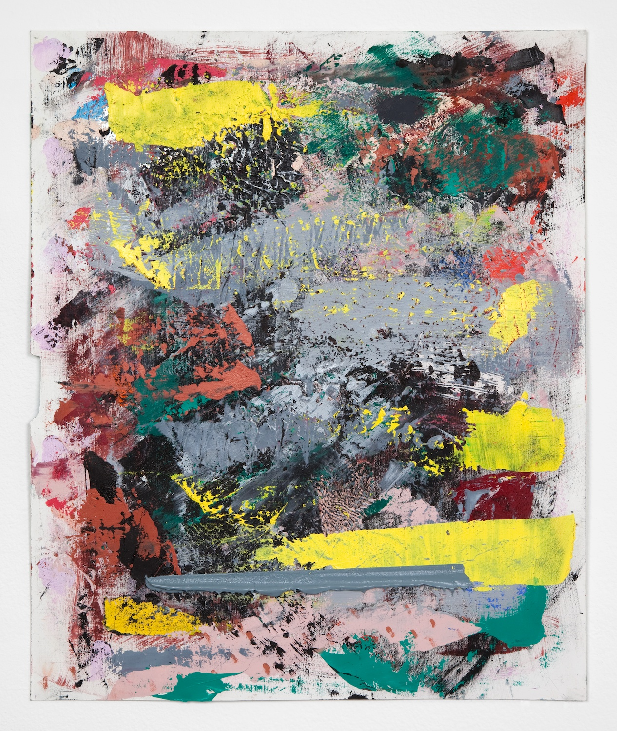 Alex Olson  Untitled  2012 Oil on gessoed paper 17h x 14w in AO084