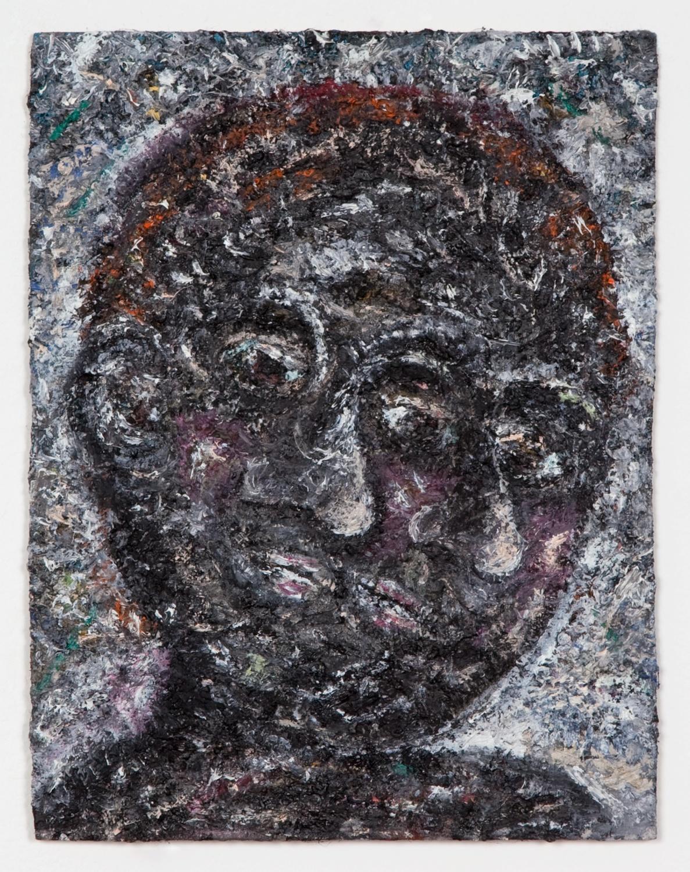Ellen Gronemeyer  Banana Split  2011 Oil on paperboard 10 ¼h x 7 ⅞w in EG001