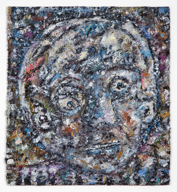 Ellen Gronemeyer  I Cloud  2011 Oil on paperboard 13 ½h x 12 ¼w in EG002