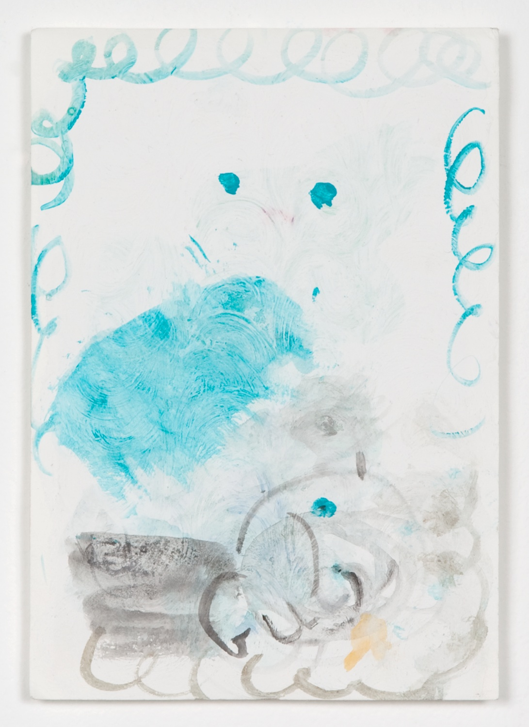 Helena Huneke  To Ellen  2012 Gouache, watercolor, and acrylic on paper 8 ¼h x 5 ½w in HH002