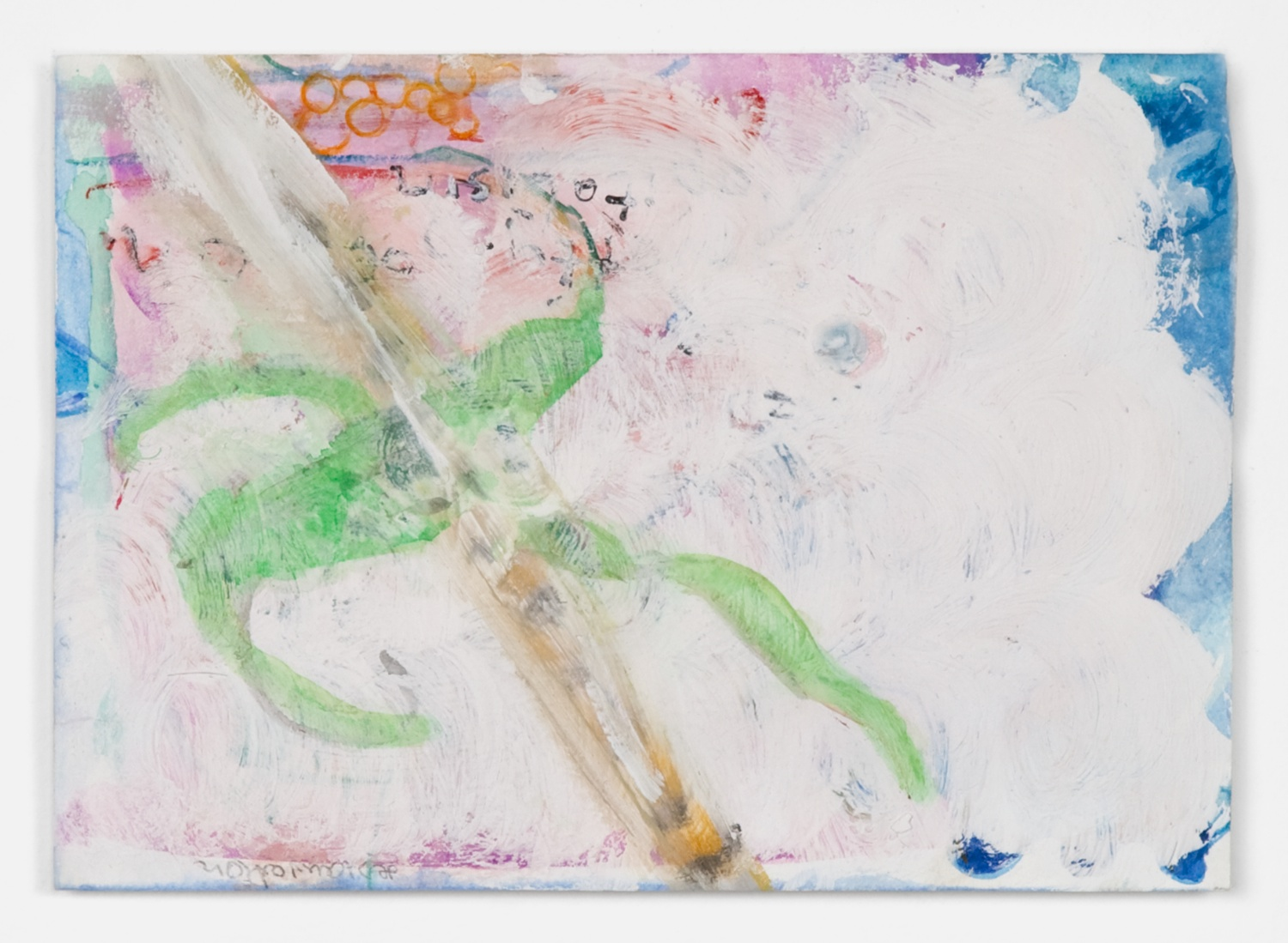 Helena Huneke  The Painter  2012 Gouache, watercolor, and acrylic tape on paper 5 ⅞h x 8 ¼w in HH003