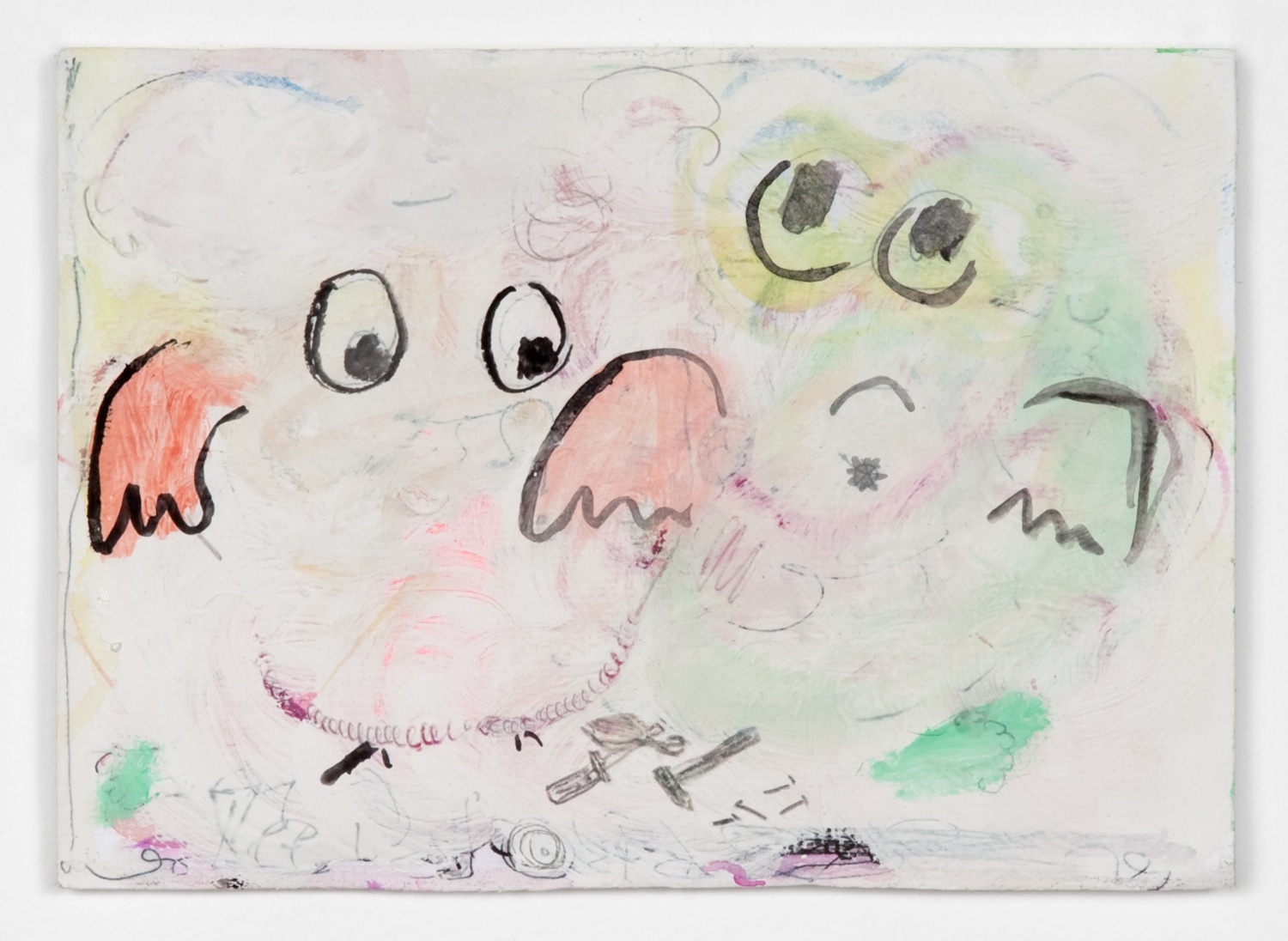 Helena Huneke  O.T.  2012 Gouache, watercolor, and acrylic on paper 5 ⅞h x 8 ¼w in HH006