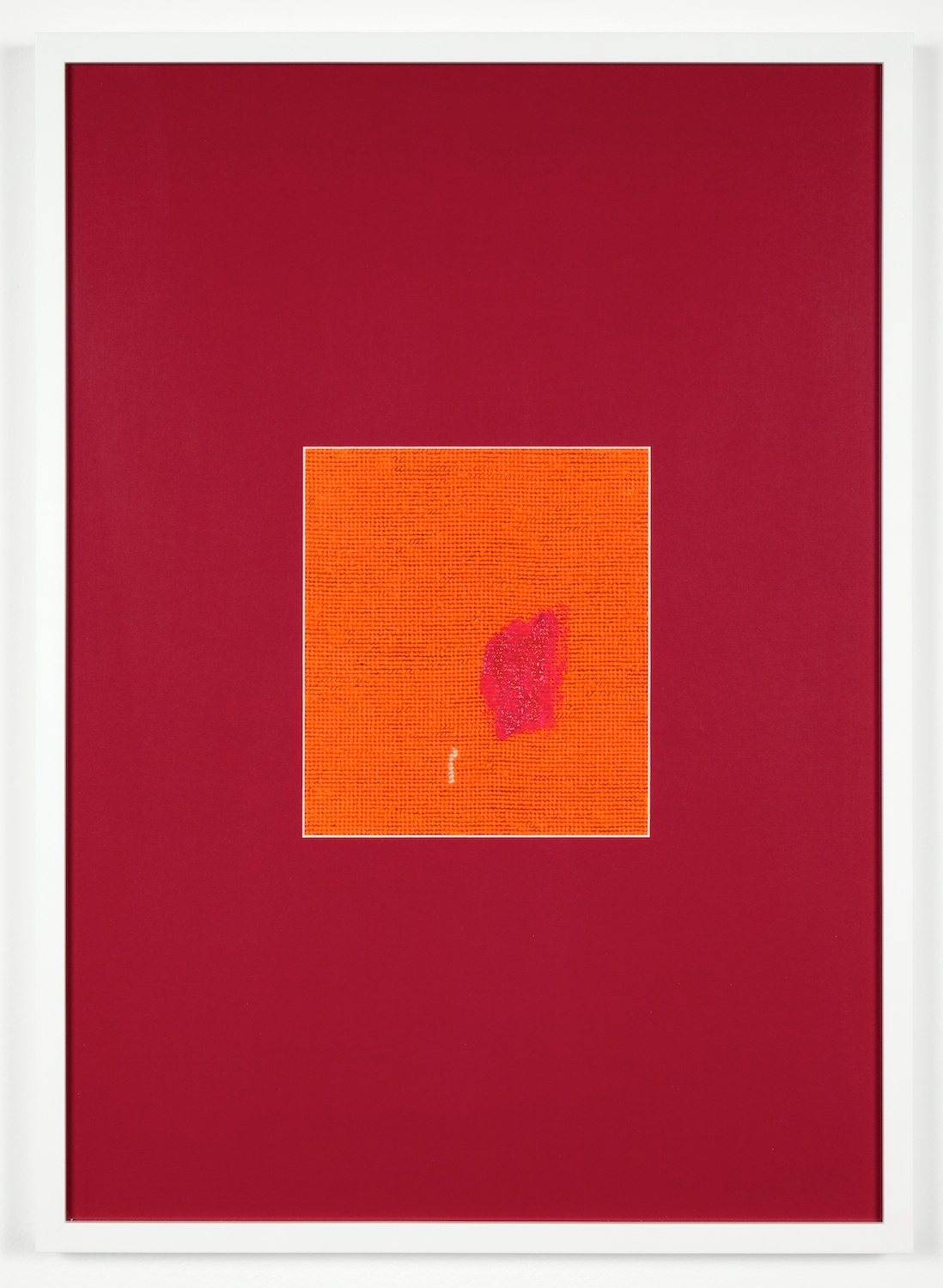 Verena Dengler  shmeer  2012 Embroidery, textile paint, passe-partout 28 ⅜h x 20 ½w in VD002