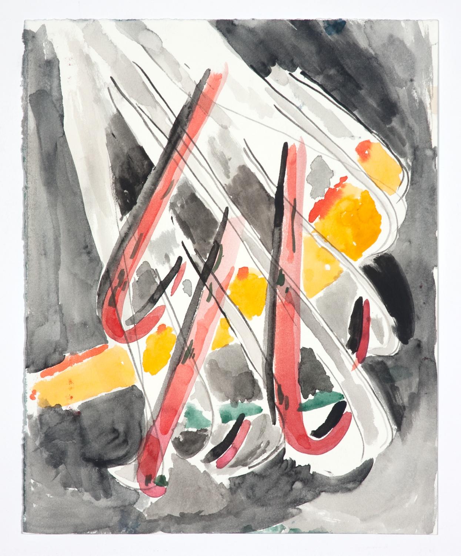 Jon Pestoni  Untitled  2009 Gouache on paper 14h x 11 ¼w in JP053