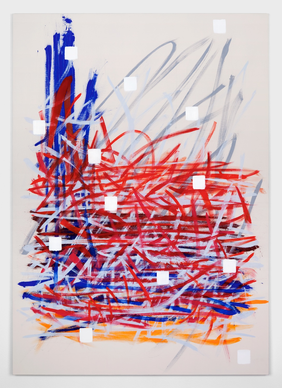 Alex Olson  Map  2012 Oil on linen 51h x 36w in AO090