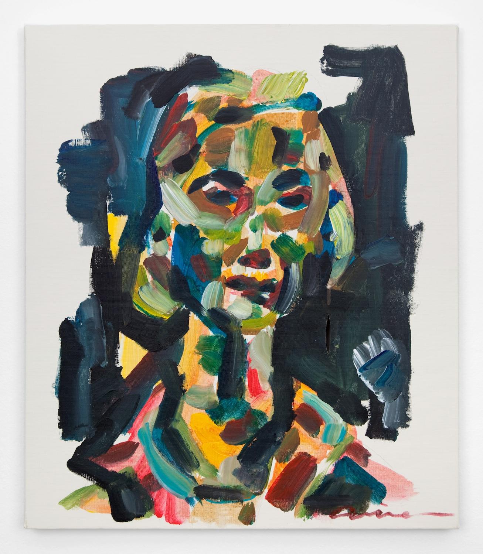 Kaoru Arima  department store girl  2011 Acrylic on canvas 21 ¼h x 17 ½w in KA002