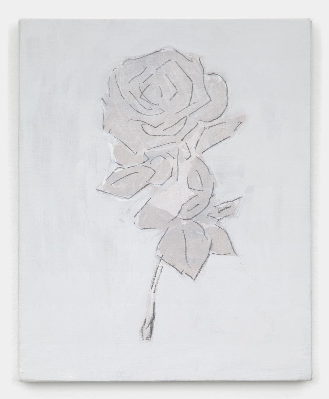Shimon Minamikawa  Gray Flower  2011 Acrylic on canvas 10 ¾h x 8 ¾w in SMin002