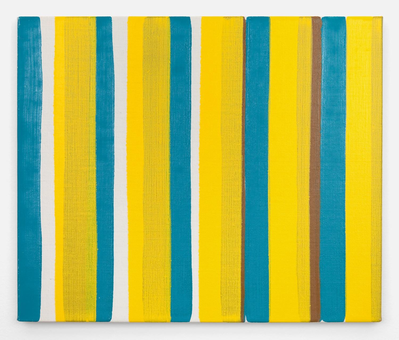 Yui Yaegashi  bind  2011 Oil on canvas 17 ⅞h x 20 ⅞w in Y003