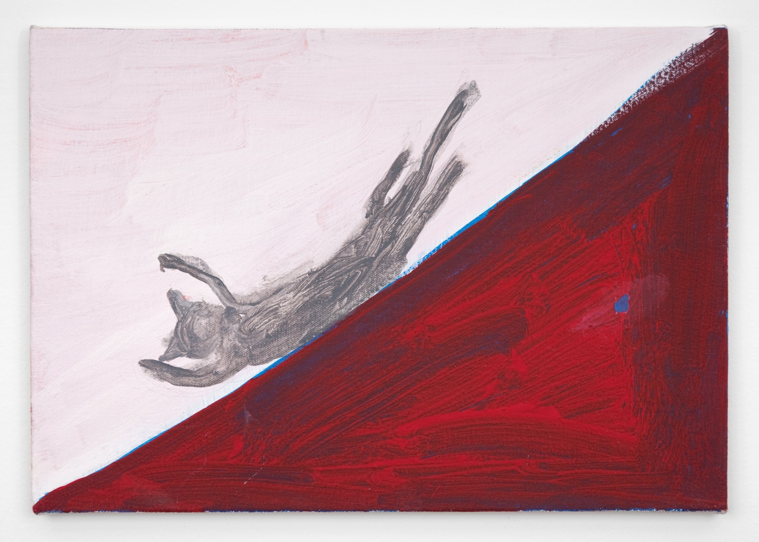 Tam Ochiai  red slide  2007 Acrylic and color pencil on canvas 12 ⅕h x 17 ⅓w in TO001