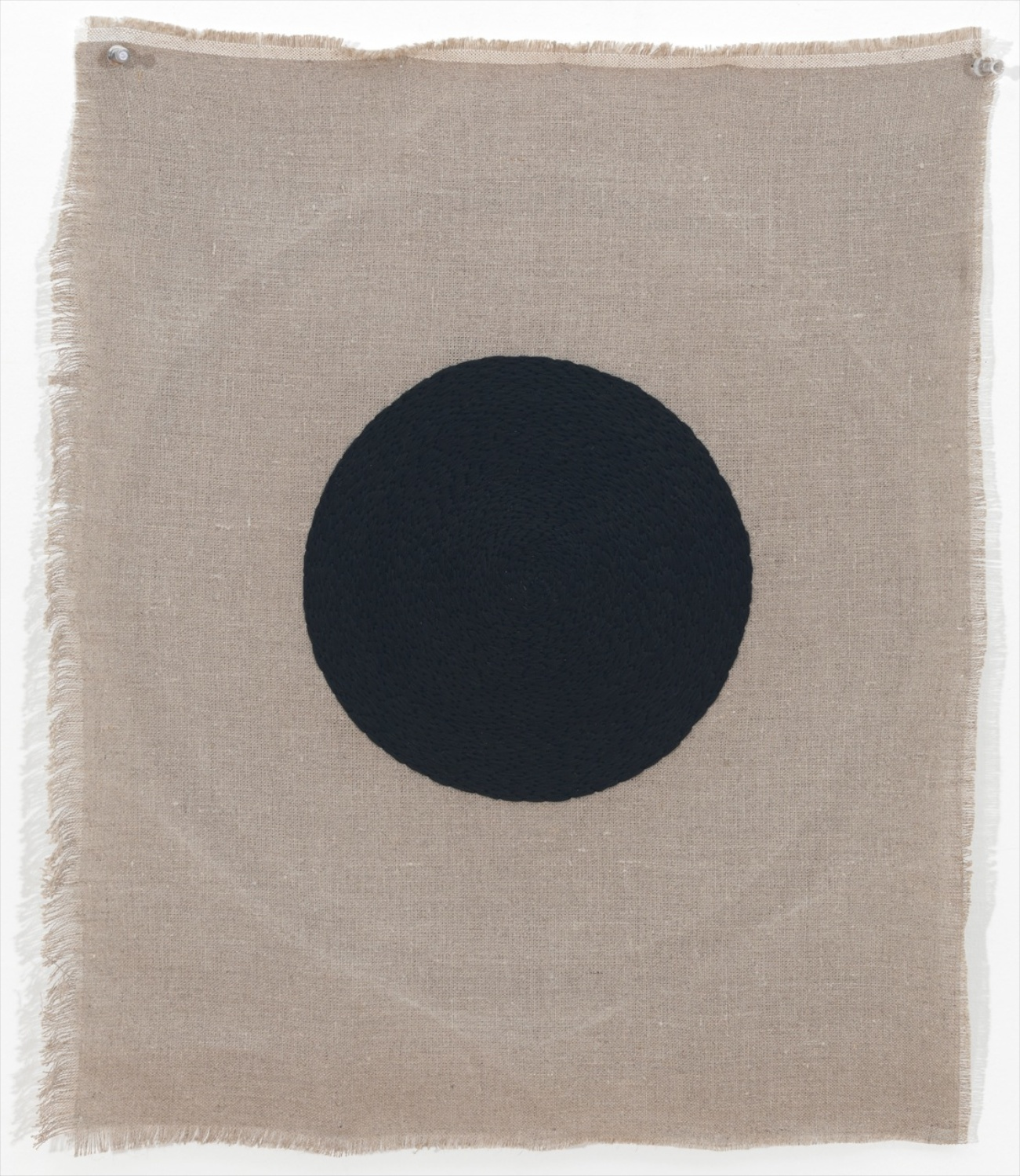 Michelle Grabner  Untitled  2012 Embroidery thread on linen 24h x 22w in MGrab293