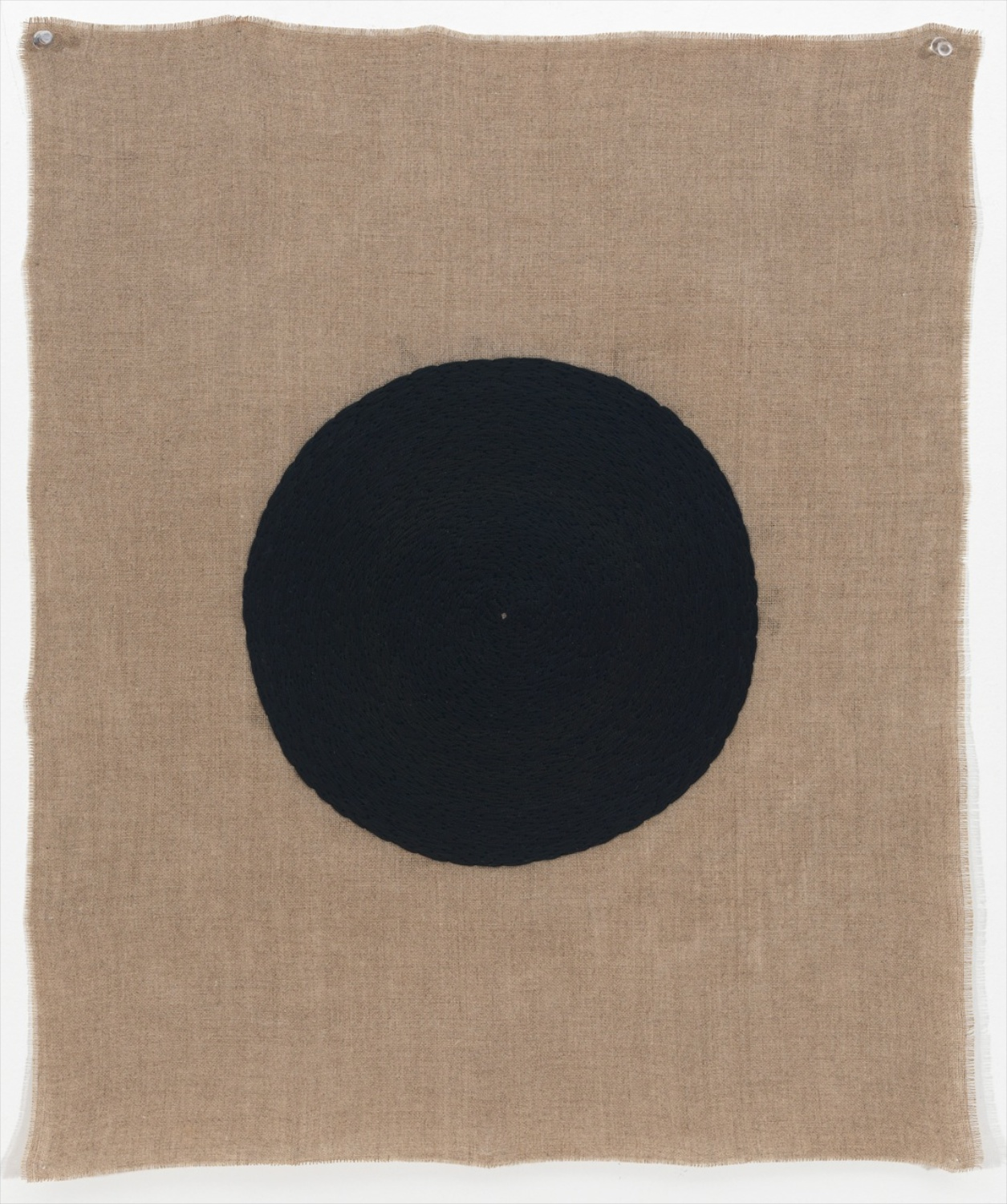 Michelle Grabner  Untitled  2012 Embroidery thread on linen 25h x 20w in MGrab294