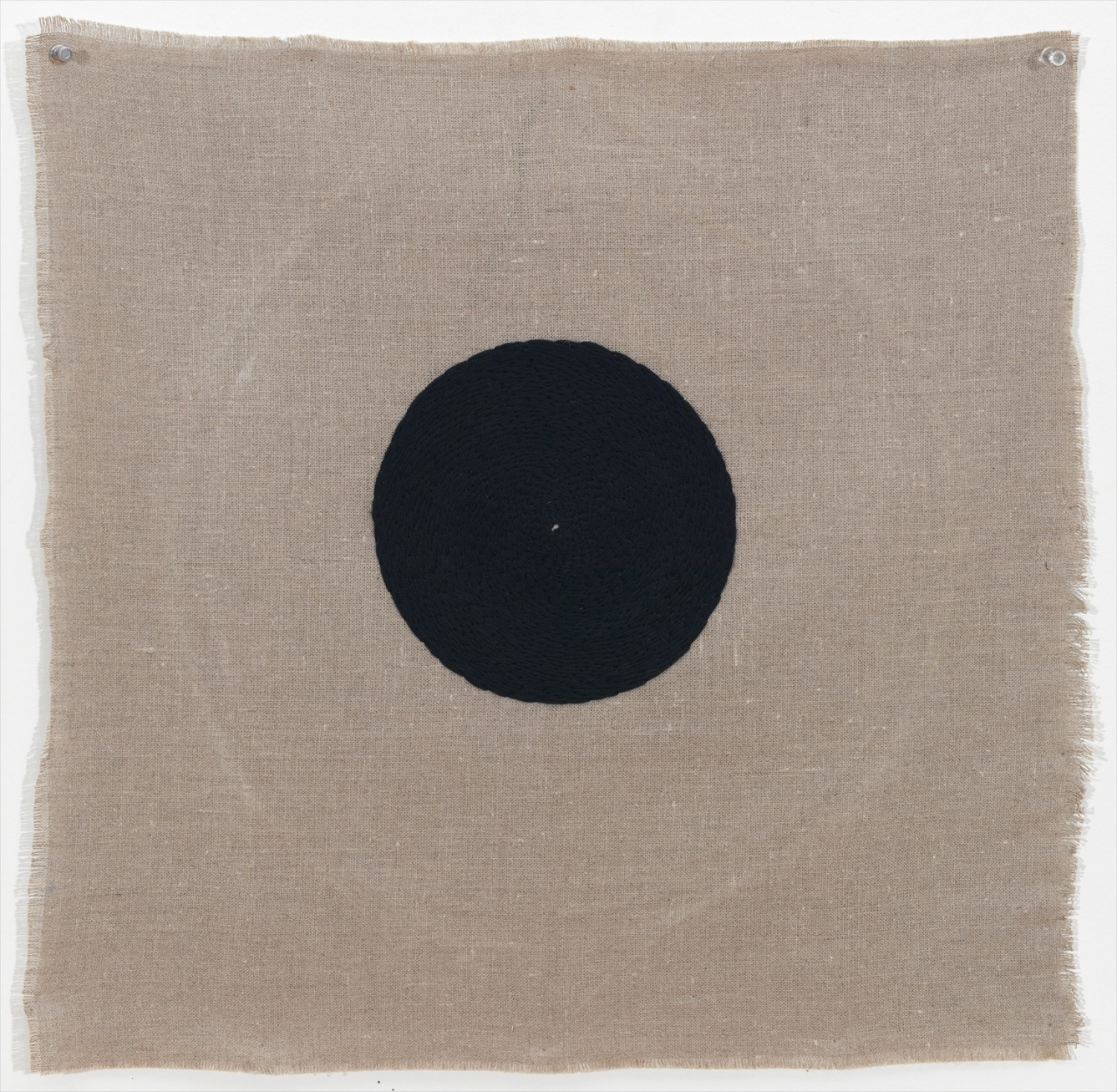 Michelle Grabner  Untitled  2012 Embroidery thread on linen 24h x 26w in MGrab292