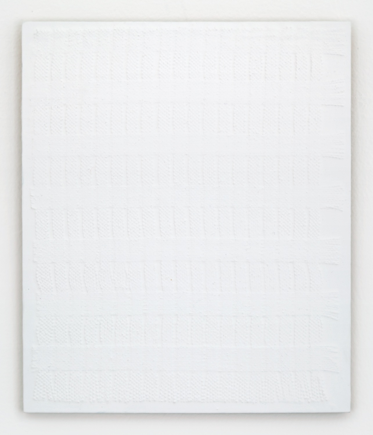 Michelle Grabner  Untitled  2012 Burlap and gesso on panel MGrab260