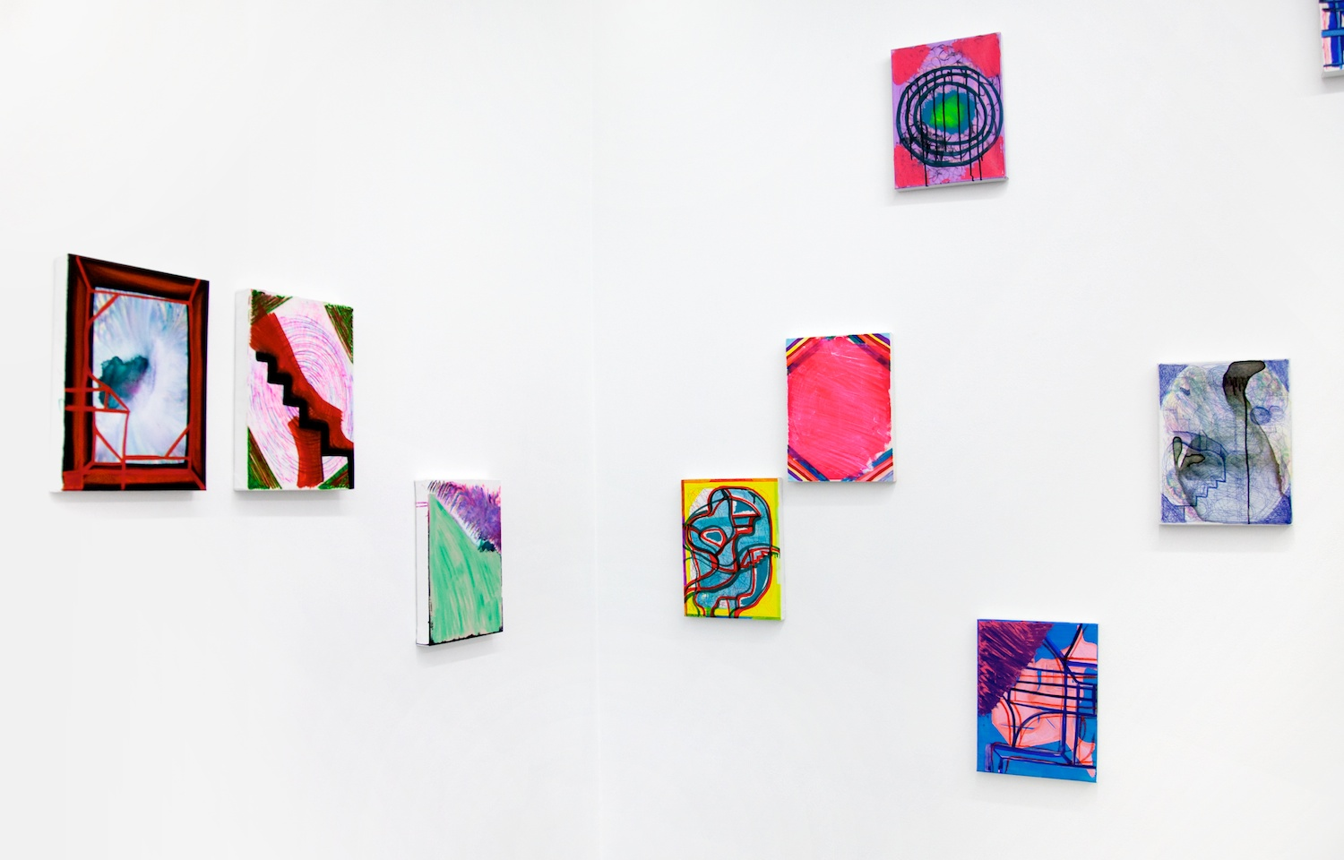 Joanne Greenbaum 2012 Shane Campbell Gallery, Chicago Installation View