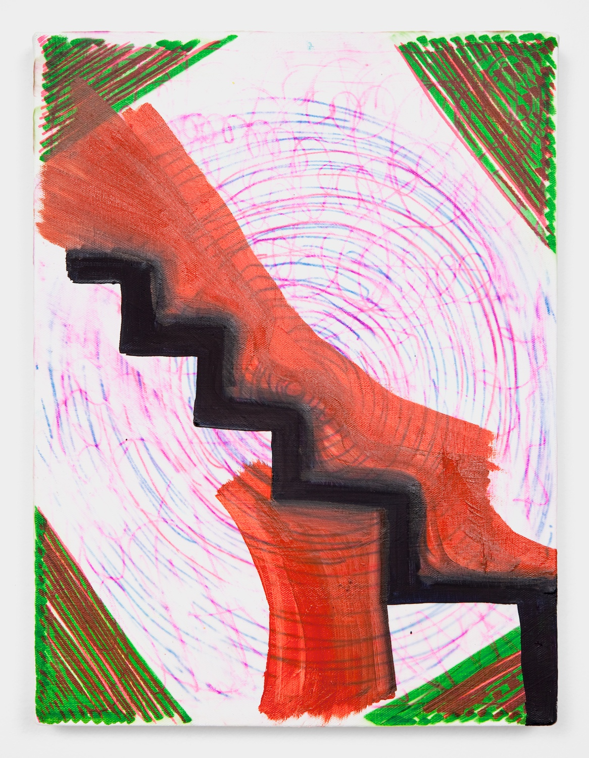 Joanne Greenbaum  Untitled  2011 Oil, acrylic and mixed media on linen 16h x 12w in JG056