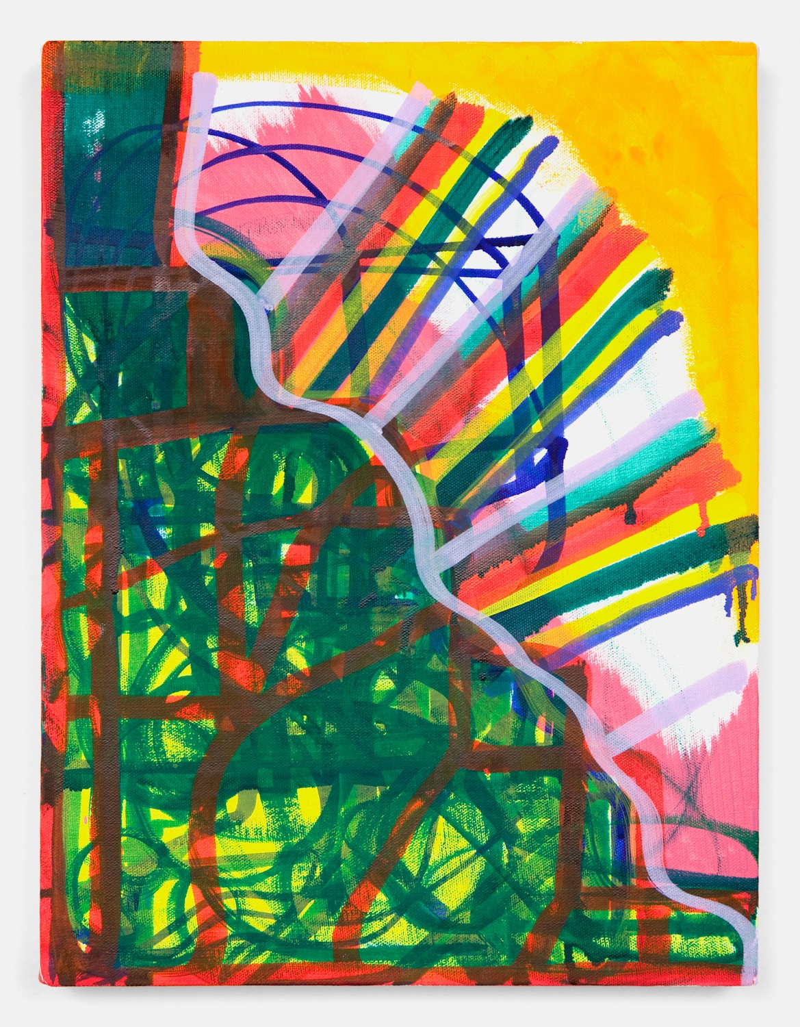 Joanne Greenbaum  Untitled  2011 Oil, acrylic and mixed media on linen 16h x 12w in JG054