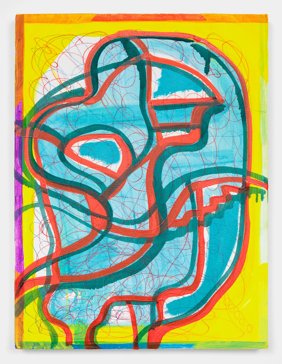 Joanne Greenbaum  Untitled  2011 Oil, acrylic and mixed media on linen 16h x 12w in JG057